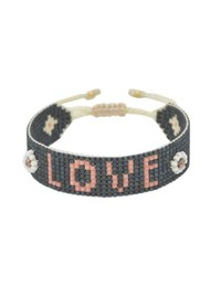 MISHKY Exclusive Love Beaded Bracelet - Black & Pink