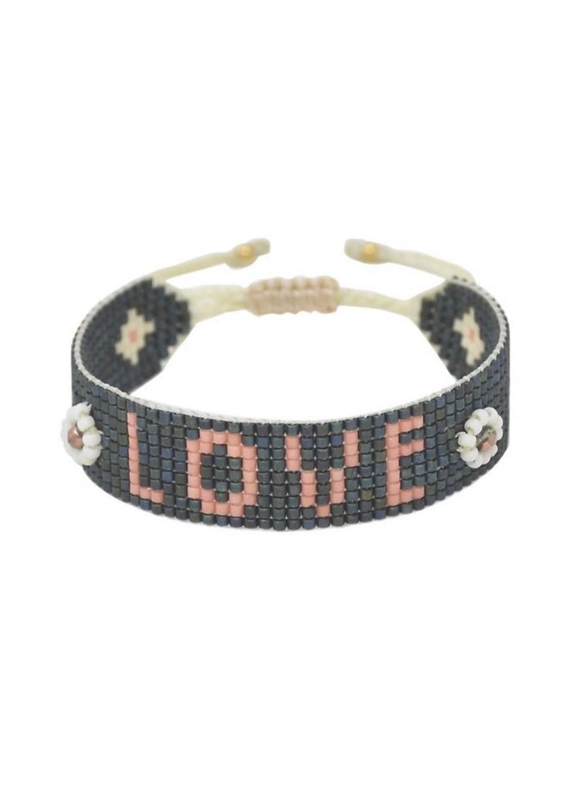 MISHKY Exclusive Love Beaded Bracelet - Black & Pink main image