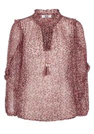 MOLIIN Megan Printed Blouse - Aurora Pink