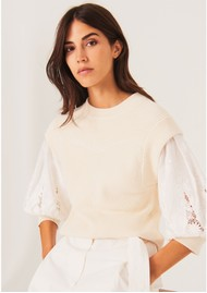 Ba&sh Samoa Cotton Jumper - Off White