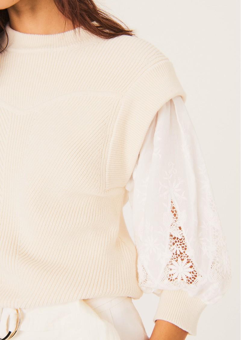 Ba&sh Samoa Cotton Jumper - Off White main image