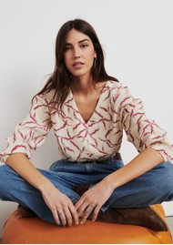 Ba&sh Clea Printed Blouse - Off White