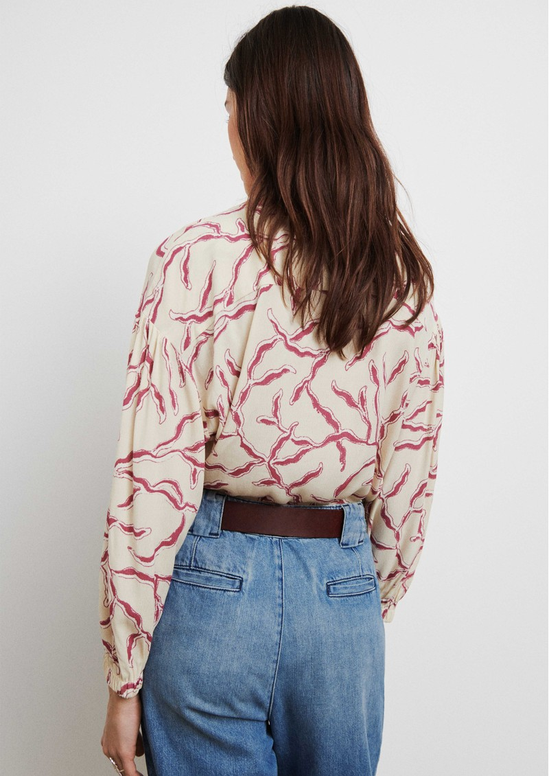Ba&sh Clea Printed Blouse - Off White main image