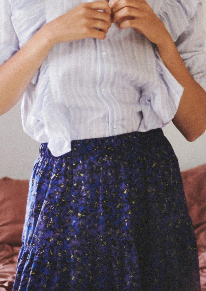 LOLLYS LAUNDRY Morning Midi Skirt - Flower Print main image