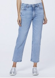 Paige Denim Noella High Rise Relaxed Straight Leg Jeans - Liza