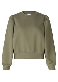 SECOND FEMALE Carmella Cotton Sweatshirt - Olive Night
