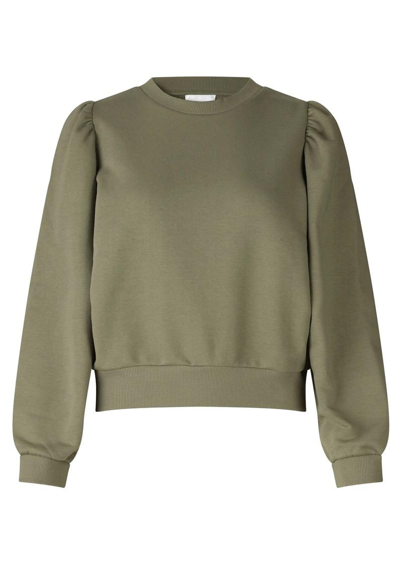 SECOND FEMALE Carmella Cotton Sweatshirt - Olive Night main image