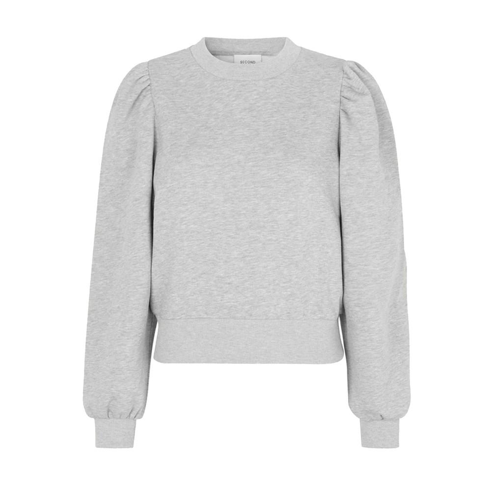 Carmella Cotton Sweatshirt - Grey Melange