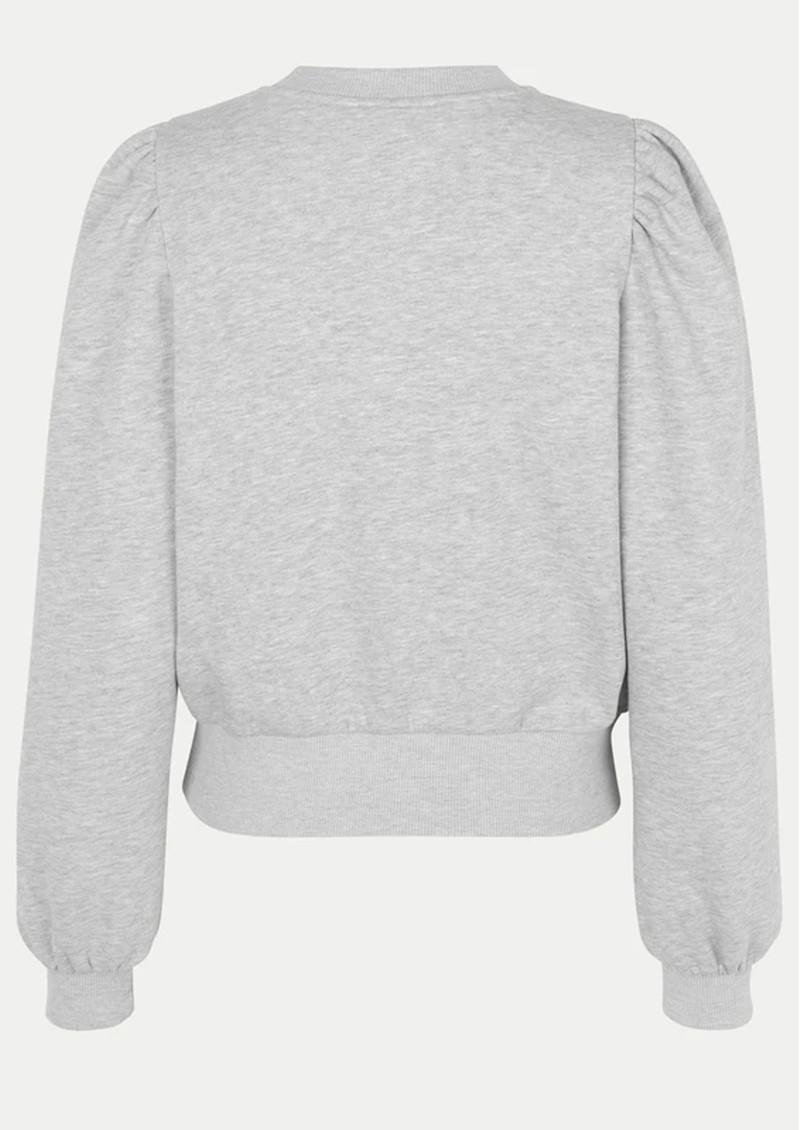 SECOND FEMALE Carmella Cotton Sweatshirt - Grey Melange main image