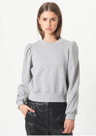 SECOND FEMALE Carmella Cotton Sweatshirt - Grey Melange