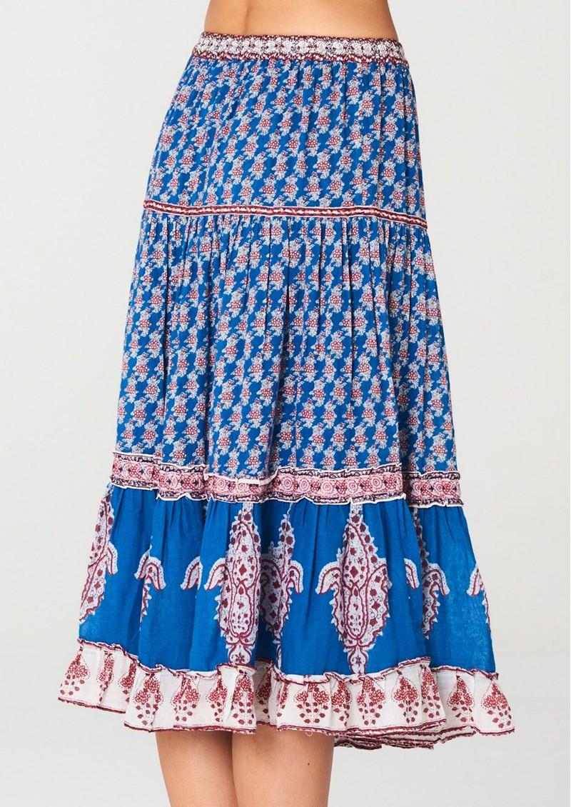 M.A.B.E Madi Midi Printed Skirt - Multi main image