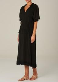 M.A.B.E Ines Midi Cotton Dress - Faded Black
