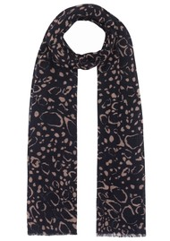 Lily and Lionel Cashmere Scarf - Navy Ocelot