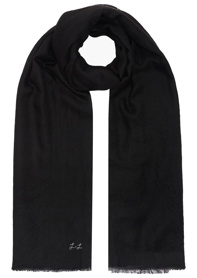 Lily and Lionel Cashmere Scarf - Noir main image