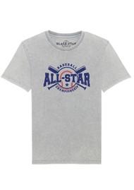 BLACK STAR All Star Organic Cotton Tee - Vintage Light Grey