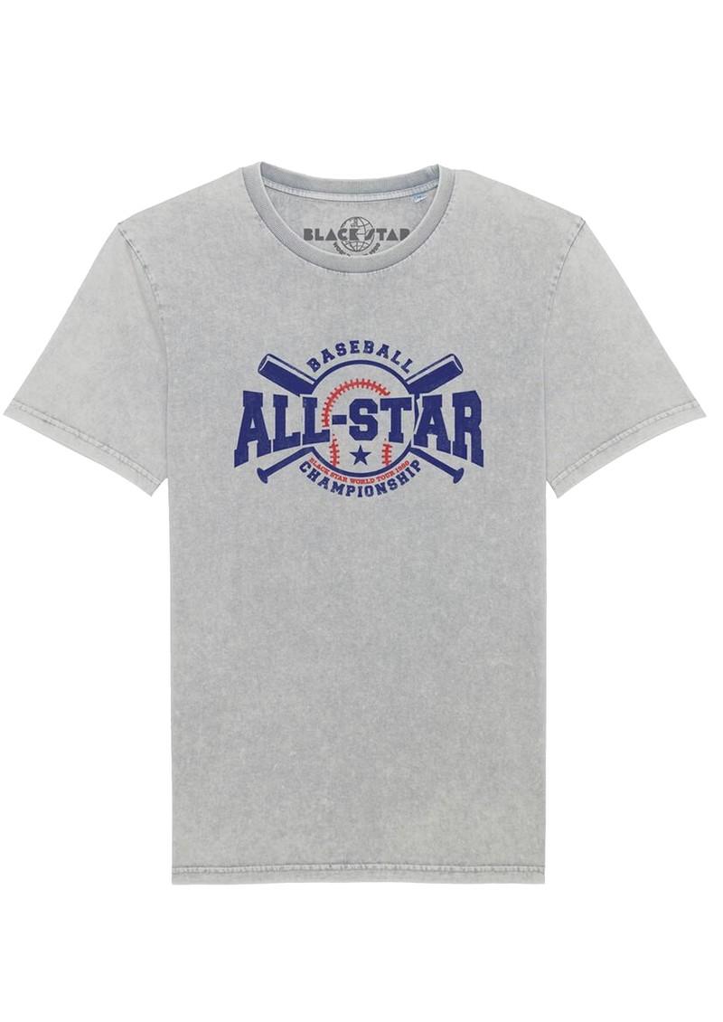 BLACK STAR All Star Organic Cotton Tee - Vintage Light Grey main image