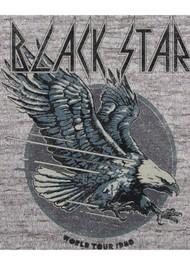 BLACK STAR Eagle Organic Cotton Tee - Vintage Light Grey
