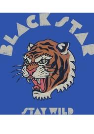 BLACK STAR Stay Wild Organic Cotton Tee - Ultra Marine