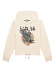 BLACK STAR Eagle Organic Cotton Hoodie - Natural