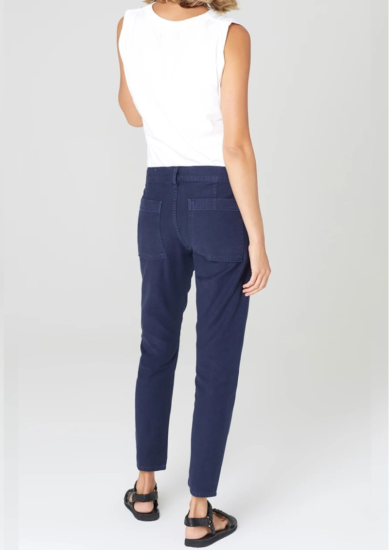 CITIZENS OF HUMANITY Leah Crop Cargo Trouser - Washed Navy main image