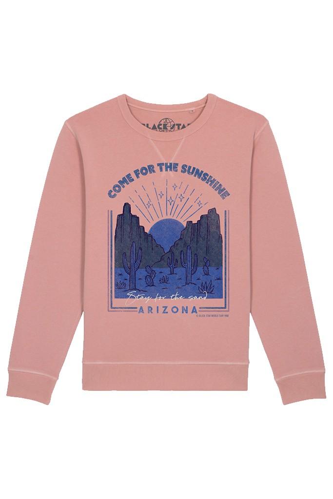 BLACK STAR Arizona Organic Cotton Sweatshirt - Vintage Rose main image