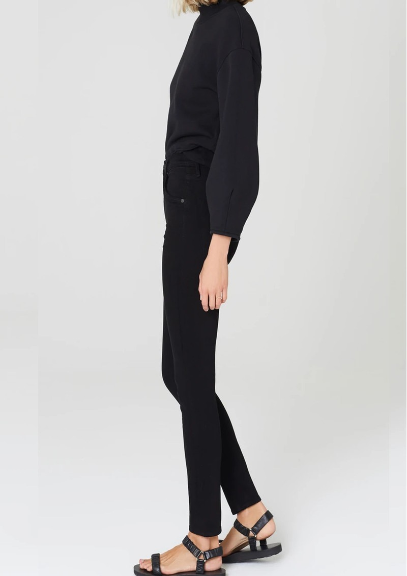 CITIZENS OF HUMANITY Chrissy High Rise Skinny Jeans - Plush Black main image
