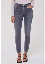 CITIZENS OF HUMANITY Olivia High Rise Slim Fit Jeans - Silvermist