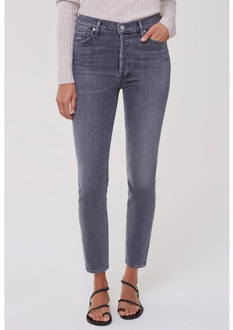CITIZENS OF HUMANITY Olivia High Rise Slim Fit Jeans - Silvermist  main image