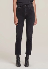AGOLDE Riley High Rise Crop Straight Leg Jean - Panoramic