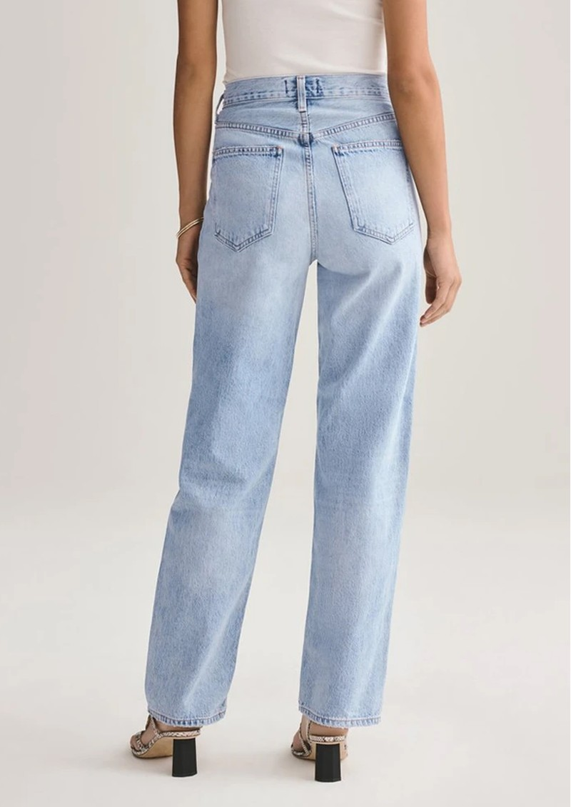 AGOLDE Criss Cross Upsized Organic Cotton Jeans - Suburbia main image