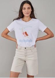 SOUTH PARADE Lola La Piscine Pima Cotton T-Shirt - White