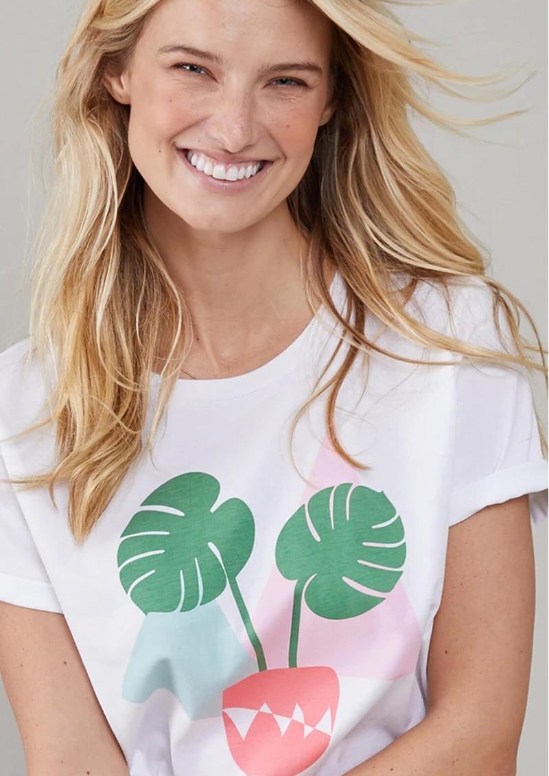 SOUTH PARADE Lola Plant Based Pima Cotton T-Shirt - White main image