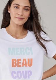 SOUTH PARADE Lola Merci Beaucoup Pima Cotton T-Shirt - White