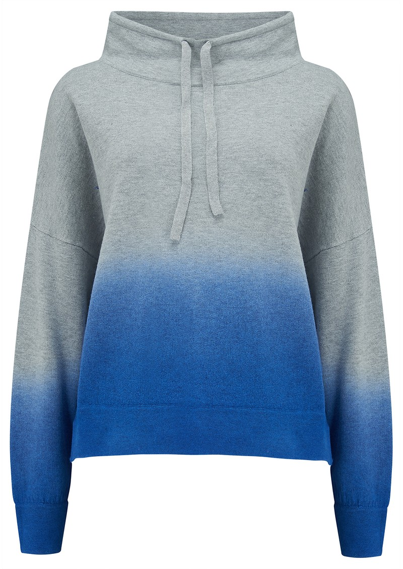 360 SWEATER Coral Cashmere Hoodie - Mist & Azure main image