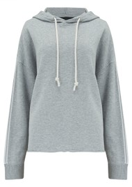 360 SWEATER Kallie Cotton Mix Hoodie - Mist & Chalk