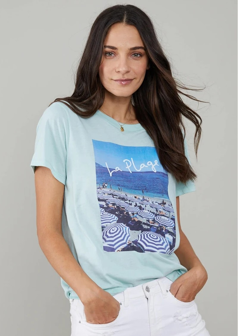 SOUTH PARADE Jane La Plage Cotton Mix T-Shirt - Blue main image