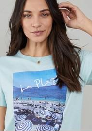 SOUTH PARADE Jane La Plage Cotton Mix T-Shirt - Blue