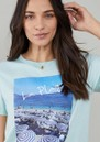 Jane La Plage Cotton Mix T-Shirt - Blue additional image