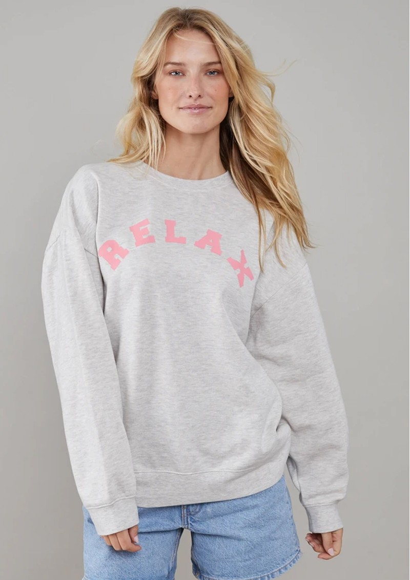 SOUTH PARADE Alexa Cotton Relax Sweater - Heather Grey main image