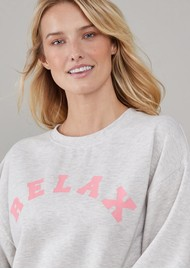 SOUTH PARADE Alexa Cotton Relax Sweater - Heather Grey