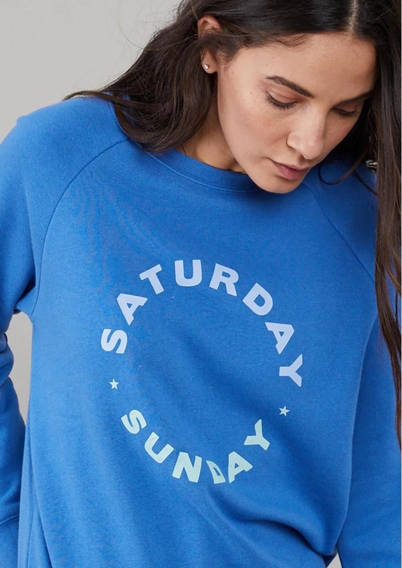 SOUTH PARADE Rocky Saturday Sunday Sweatshirt - Blue main image