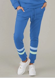 SOUTH PARADE Lucy Triple Stripe Sweatpants - Blue