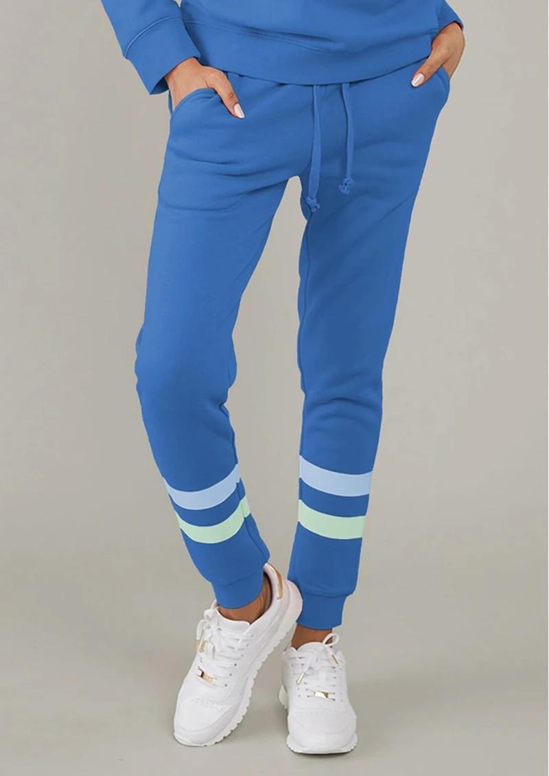 SOUTH PARADE Lucy Triple Stripe Sweatpants - Blue main image