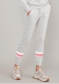 SOUTH PARADE Lucy Triple Stripe Sweatpants - Heather Grey