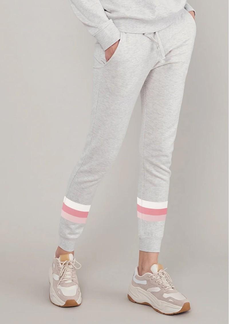 SOUTH PARADE Lucy Triple Stripe Sweatpants - Heather Grey main image