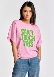 ESSENTIEL ANTWERP Zyad Slogan Organic Cotton T-shirt - Fairytale