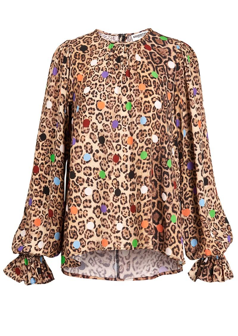 ESSENTIEL ANTWERP Zover Leopard Print Top - Tacos main image