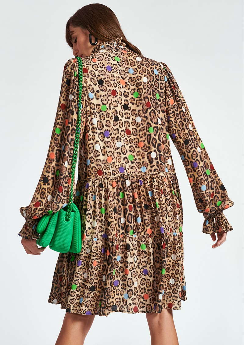ESSENTIEL ANTWERP Zex Printed A Line Dress - Tacos main image