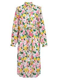 ESSENTIEL ANTWERP Zider Floral Ruffle Shirt Dress - Ballerina