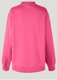 BAUM UND PFERDGARTEN Jimi Organic Cotton Sweater - Hot Pink